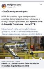 A UFPB é Campeã em depósito de patentes de invenções, de acordo com o INPI.