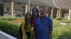 Anna Beatriz (estagiária), Ana Berenice (Diretora de Relações Interinstitucionais) e Wellington Guimarães (Diretor de Mobilidade Acadêmica)