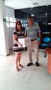 Arquivista Geane de Luna Souto e o Prof. Dr. Ângelo Pessoa