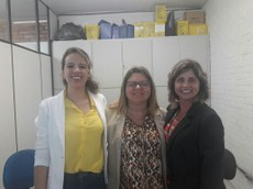 Na foto, profª Juliana, vice coordenadora de Zootecnia; profª Mônica, presidente da CPA e profª Adriana, coordenadora de Zootecnia.