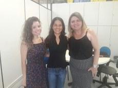 Bianca (estagiária), Professora Elaine Folly (Coordenadora Do Curso de Ecologia) e Professora Mônica Dias (Presidente da CPA).