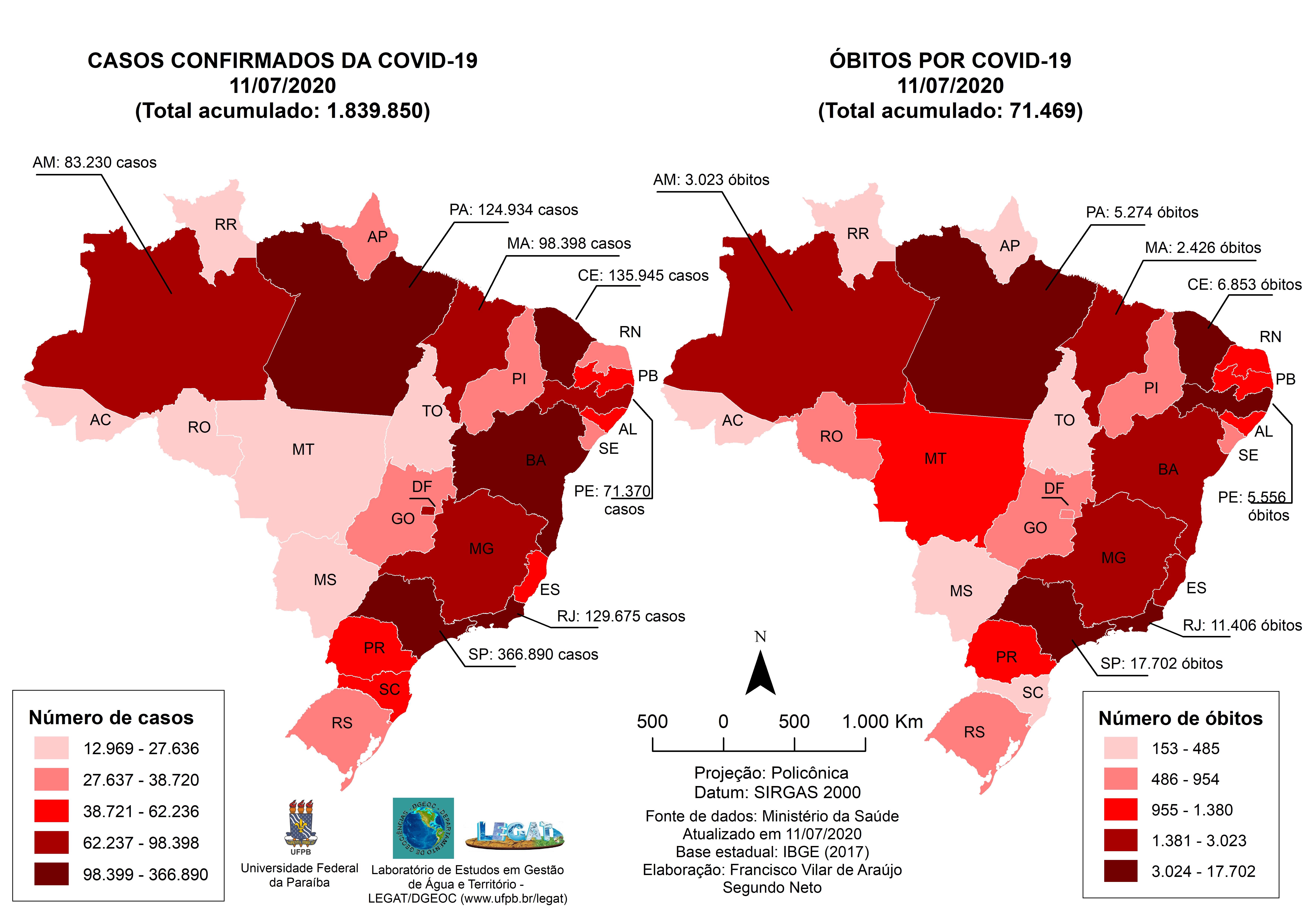 A Pandemia Em Mapas Covid 19 No Brasil Universidade Federal Da Paraiba Ufpb Laboratorio De Estudos Em Gestao De Agua E Territorio