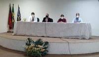 No acolhimento, foi ministrada uma palestra sobre medidas de prevenção para controle da infecção, ministrada por membros da Comissão de Controle Hospitalar, e outra sobre ética na prática médica, realizada pelo presidente do CRM-PB. Foto: Oriel Farias